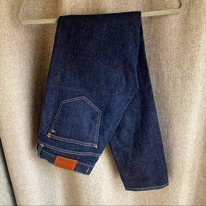 Madewell Alley Straight Leg Skinny Jeans Dark Wash